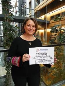 Nathalie Griesbeck au Parlement européen pour la journée mondiale de l'épilepsie