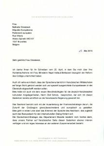 20150602 - Réponse Mme Kramp-Karrenbauer 1