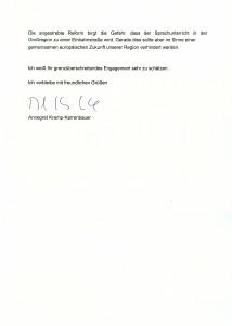 20150602 - Réponse Mme Kramp-Karrenbauer 2